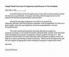 Thank You For Opportunity Letter Sample Free 9 Sample Internship Thank You Letter Templates In