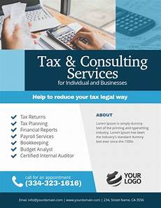 Advertise Services For Free Copy Of Tax Amp Consulting Services Flyer Poster Template