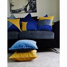 mcalister textiles velvet patchwork navy yellow grey