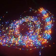 Wire Christmas Tree With Led Lights 2m 19 Copper Wire 380 Led Light String For Party Wedding
