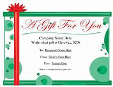 Gift Certificate Ideas For Christmas Gift Certificate Templates To Print Activity Shelter