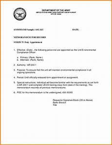 Samples Of Memorandum 6 Memorandum For Record Army Card Authorization 2017