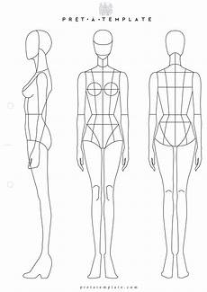 Outline Of A Female Body Template Pr 234 T 224 Template Fashion Illustration Template Fashion