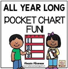 Long Pocket Chart All Year Long Pocket Chart Fun By Alessia Albanese Tpt