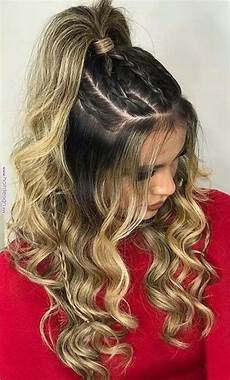 stylish prom hairstyles half up half