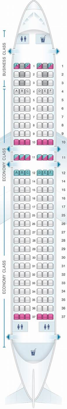 Alitalia Flight 631 Seating Chart Seat Map Edelweiss Air Airbus A320 200 Malaysia Airlines