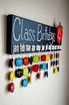 School Birthday Calendar Teacher Gift Chalkboard Class Birthday Calendar 30 Name