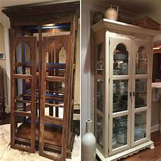 before and after curio cabinet painted curio cabinets