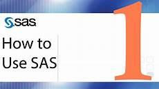 How To Use Keywords How To Use Sas Lesson 1 The Sas Interface Youtube