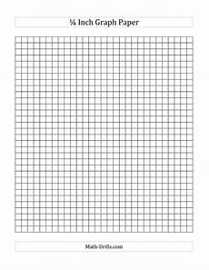 Free Printable Graph Paper 1 4 Inch 1 4 Inch Graph Paper A Math Worksheet Freemath Graph
