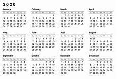 Printable 2020 12 Month Calendar Printable Calendar By Month 2020 Free Printable Calendar
