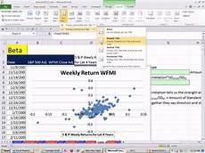 Beta Chart Excel Finance Class 107 Calculating Beta 2 Methods