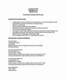 Professional Resume Writer 8 Sample Freelance Resume Templates In Pdf Ms Word