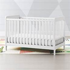 carousel white low profile crib reviews crate and barrel
