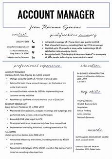 Resume Objective Account Manager Account Manager Resume Sample Amp Writing Tips Resume Genius