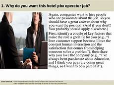 Pbx Operator Top 10 Hotel Pbx Operator Interview Questions And Answers