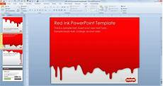 Red Powerpoint Free Red Ink Powerpoint Template Free Powerpoint