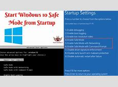 How to Start Windows 10 Safe Mode from Startup 2019   Tech