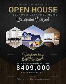 Real Estate Open House Flyers Real Estate Open House Flyer By Tunagaga Graphicriver