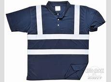 High Visibility Navy Blue Polo Shirt   redoakdirect.com