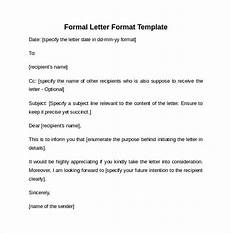 Formal Letter Format Template Free 9 Formal Letters In Ms Word Pdf