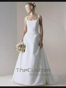 a line square court satin lace wedding dresses 10501593
