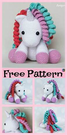 crochet unicorn amigurumi free patterns diy 4