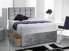 shop silver crushed velvet divan bed uk beds divans 99