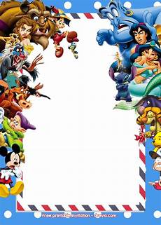 Disney Birthday Invites 2945 Best Free Printable Birthday Invitation Images On