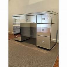 mirrored 7 drawer vanity dressing table in silver buy
