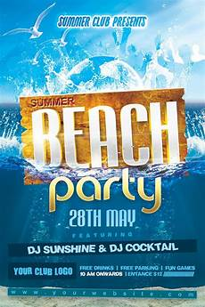 Beach Party Flyer Template Free Summer Beach Party Flyer By Dilanr On Deviantart