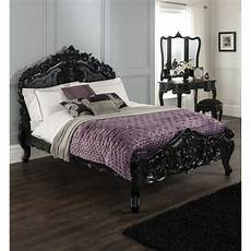 buy black rococo bed complete with slatted base and part