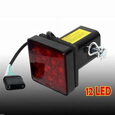 Led Reverse Light Hitch Cover 2 Quot Trailer Hitch Receiver Cover With 12 Led Brake Leds