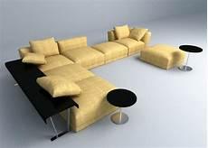 Rivet Sofa Velvet 3d Image by Modern Textile Sofa Set 3d Model In 2020 Sofa Set