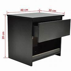 comodini neri coppia comodini moderni set da due con un cassetto neri