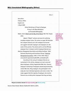 College Mla Format Mla Format Annotated Bibliography Google Search