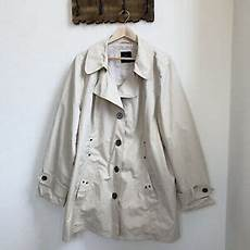 plus size trench coats for 3x womens plus size 3x ivory button front canvas