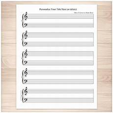 Print Blank Sheet Music Printable Personalized Piano Sheet Music Blank Piano And