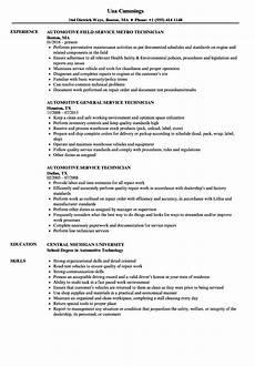 Automotive Technician Resume Automotive Service Technician Resume Samples Velvet Jobs