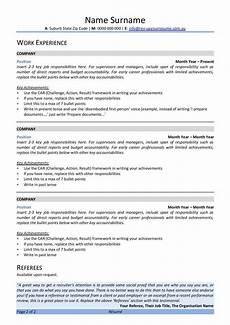 Resume In Australia Free Australian Resume Template Rev Up Your Resume
