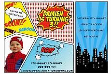 Printable Superhero Invitations Printable Superhero Birthday Invitation Diy Printing Jpeg