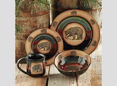 Forest Bear Pottery Dinnerware (4 pcs)