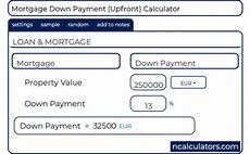 Nz Mortgage Calculator Mortgage Down Payment Calculator