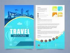 Travel Brochure Cover Design Travel Brochure Template Or Flyer Design Stock