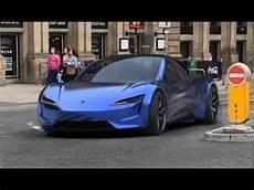 tesla by 2020 blue tesla roadster 2020