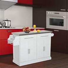home goods kitchen island homcom kitchen island modern rolling storage cart on