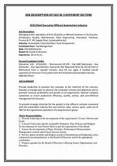 Deputy Ceo Roles And Responsibilities Job Desription Of Ceo