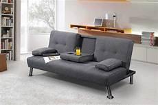 sleep design new york grey fabric sofa bed by sleep design