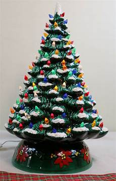 Ceramic Lighted Christmas Trees For Sale Vintage 20 Quot Lighted Ceramic Holland Mold Flocked