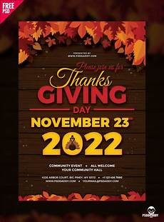Club Flyer Maker Online Free Download Thanksgiving Flyer Free Psd Psddaddy Com